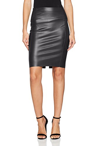 VERO MODA Damen Rock Vmrib Butter Hw Knee Pu Skirt