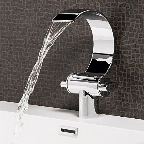 Wasserhahn Oregon Wasserfall Waschtisch Armatur Waschtischarmatur Waschbecken Waschbeckenarmatur Badezimmer Badarmatur