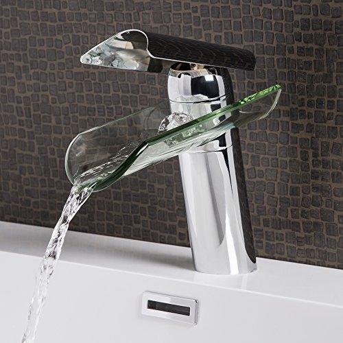 Wasserhahn Vigo Wasserfall Waschtisch Armatur Waschtischarmatur Waschbecken Waschbeckenarmatur Badezimmer Badarmatur