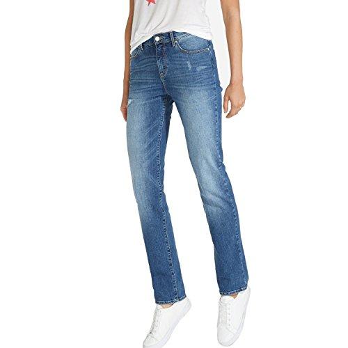 Wrangler Damen Jeans, Frauenjeans W27GLU86J High Rise Slim Damage Blue