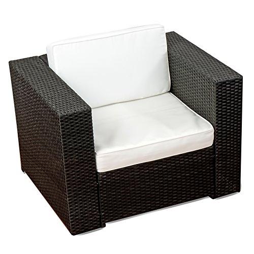 XINRO® Premium Lounge Sessel - Modell 2013 - 1er Lounge Sofa Gartenmöbel Loungesofa Polyrattan - handgeflochten
