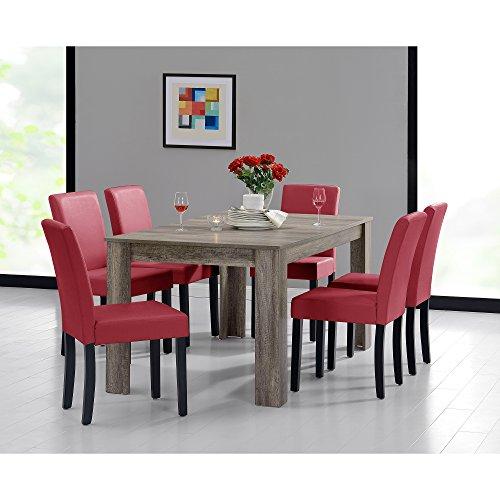 [en.casa] Esszimmerset mit Tisch und 6 Stühlen (6 Farbkombinationen)
