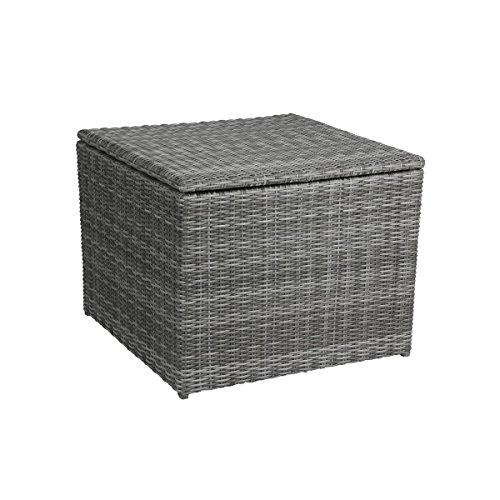greemotion Edelstahlablage Bari, Ablage für Gläser, Sofatablett für Loungemöbel Bari, langlebig und witterungsbeständig, ideal für den Außenbereich, Maße 11,5 x 20 x 4,5 cm