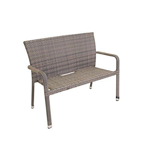 greemotion Stapelstuhl Manila grau bicolor, Sitzmöglichkeit für In- und Outdoor, platzsparender Terassenstuhl, Stuhl aus pflegeleichtem Polyrattan, witterungsbeständig, gastronomiegeeignet