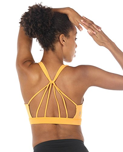icyZone Sport BH Damen Yoga BH mit Gepolstert - Starker Halt Fitness-training Strech BH Bustier Push up Top ohne Bügel Sports Bra