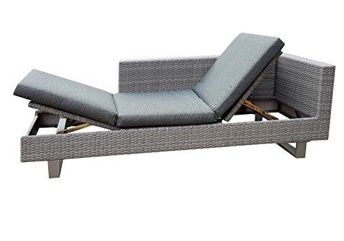 osoltus Lounge Gartenliege Geflecht Lounge Liege Siena mit Auflage