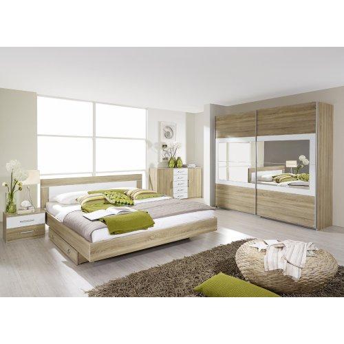 rauch Schlafzimmer-Set Venlo 6tlg. Eiche Sonoma Nb., Abs. weiß