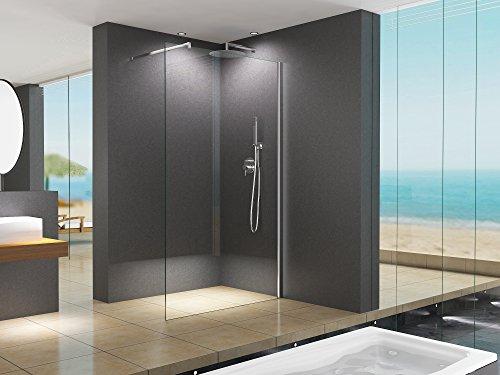 110x200 cm Duschabtrennung LILY Klarglas, Duschwand, Walk-In Dusche, 10 mm ESG Sicherheitsglas