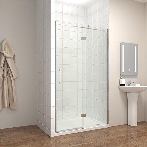 120*195cm Duschkabine Duschabtrennung 8mm Nano Echtglas Glas Duschwand Duschtür Duschtasse