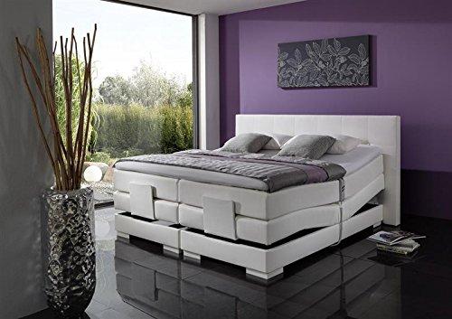 Breckle Boxspringbett 140 x 200 cm Oxford Box Elektro Inspiration Hollanda TFK Topper Gel Comfort