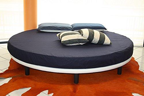 Rundbett, Matratze guter Qualität Durchmesser 220 cm eingeschlossen! Bezug Kunstleder. Produktion MADE IN ITALY!!!