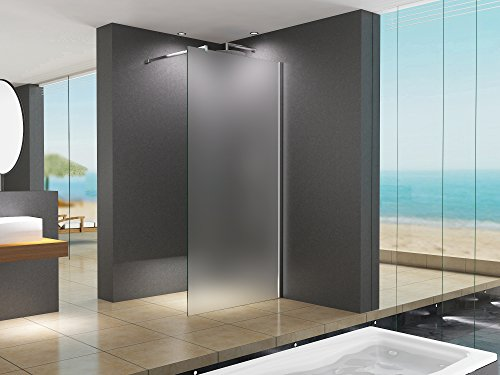 90x200 cm Duschabtrennung LILY Frost, Milchglas, Duschwand, Walk-In Dusche, 10 mm ESG Sicherheitsglas