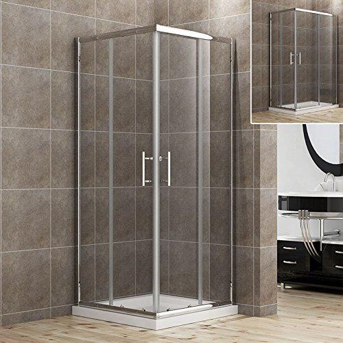 90x90cm Eckeinstieg Duschkabine Sicherheitsglas Schiebetür Eckdusche Duschabtrennung Duschschiebetür Glas