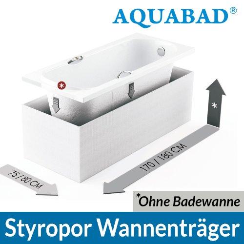AQUABAD® Universal Badewannenträger (für Villeroy & Boch, Bette, Ideal Standard uvm.) Wannenträger Styroporträger Badewanne 170 x 75 u. 180 x 80 cm
