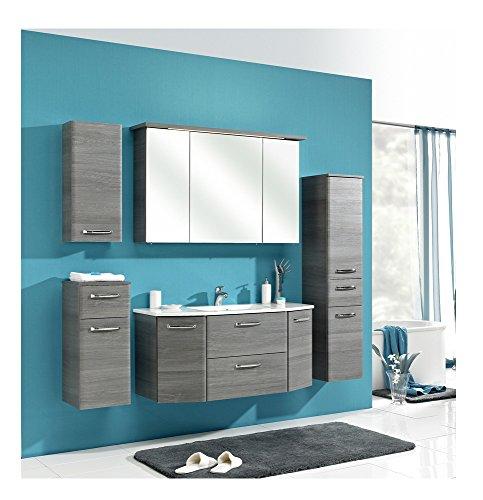 Badmöbel-Set Pelipal Alika Badset 6tlg Badezimmer-Möbel Graphitgrau Struktur/Graphitgrau Struktur Badmöbel-Programm