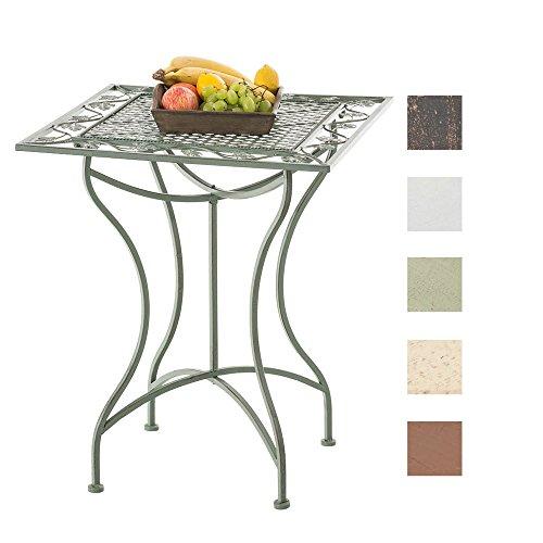 CLP Eisentisch ASINA in nostalgischem Design | Robuster Gartentisch mit kunstvollen Verzierungen | In verschiedenen Farben erhältlich Antik Grün