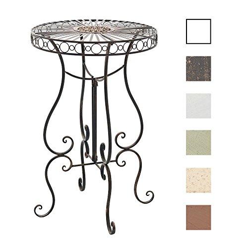 CLP Eisentisch SHIVA in nostalgischem Design | Robuster Gartentisch mit kunstvollen Verzierungen | In verschiedenen Farben erhältlich Bronze
