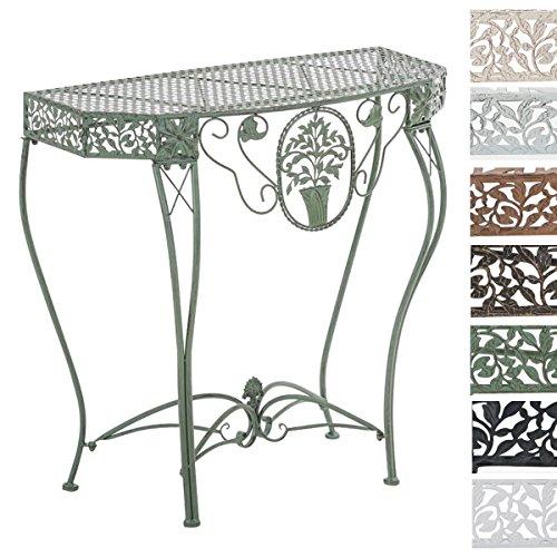 CLP Eisentisch SONORA in nostalgischem Design | Robuster wetterbeständiger Gartentisch | In verschiedenen Farben erhältlich Antik Grün