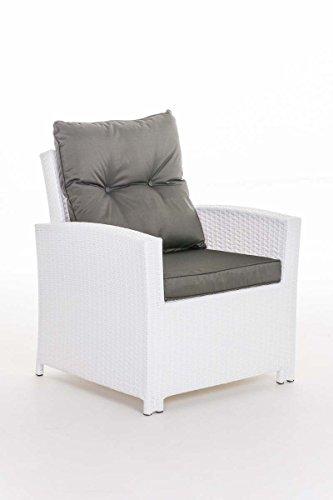 clp polyrattan sessel fisolo mit sitzkissen robuster gartenstuhl mit einem untergestell aus. Black Bedroom Furniture Sets. Home Design Ideas