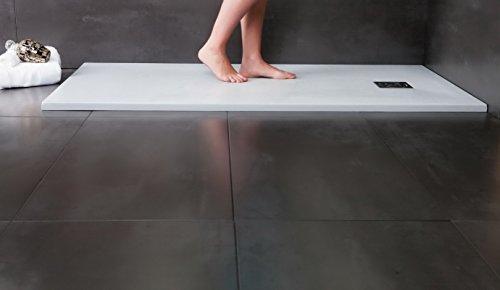 Designer Duschtasse - Mineralguss Duschtasse 90 x 140 - STONE -Weiß