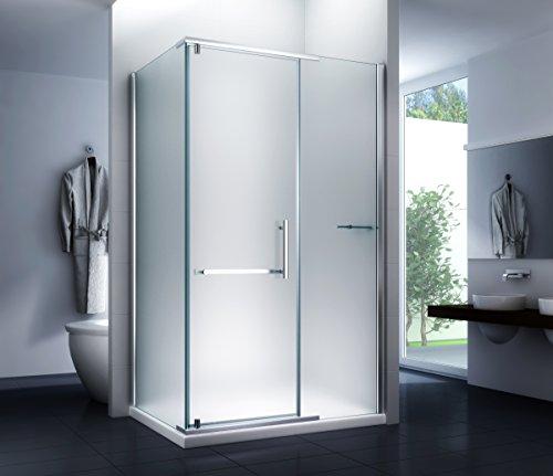 Duschkabine Milchglas Duschabtrennung Dusche Sara (Milk) 120 x 90 x 195cm / 8mm / ohne Duschtasse