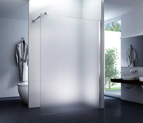 Duschwand Walk in Duschabtrennung Dusche Glasscheibe Seitenwand Diwa Milchglas 10mm ESG-Sicherheitsglas Milk Glas 140 x 200 cm
