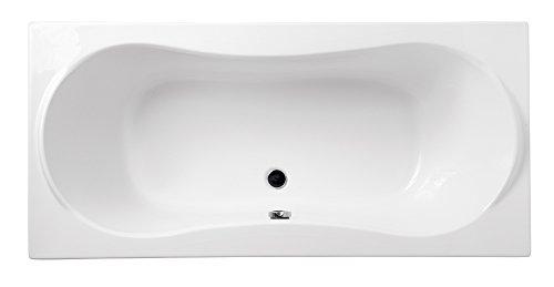 EXCLUSIVE Rechteck Badewanne Eckwanne Wanne Acryl 170x80; 180x80 Schürze Weiß / Schwarz Ablaufgarnitur