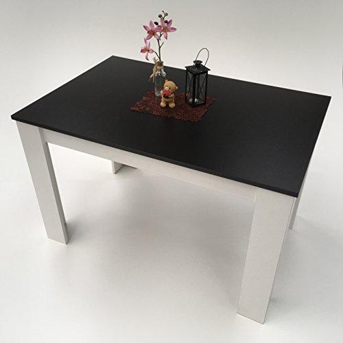 Esstisch Küchentisch schwarz weiß Hilde 110X70