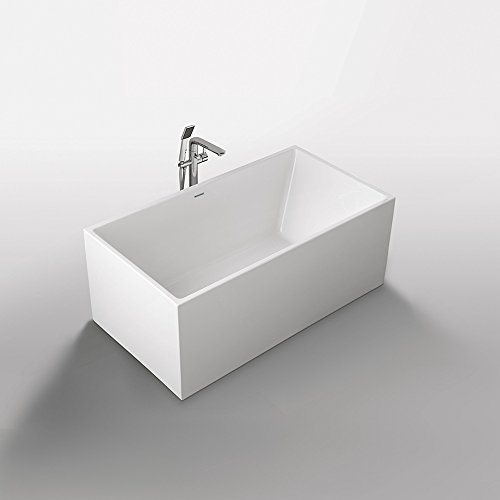 Exclusive Freistehende Badewanne 170x75 cm aus Sanitäracryl mit Ab.- und Überlauf