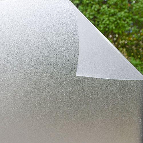 Eyepower Sichtschutz Fensterfolie 90x200 cm Milchglasfolie Blickdicht Statisch Selbst-Haftend Sonnenschutz Selbstklebend