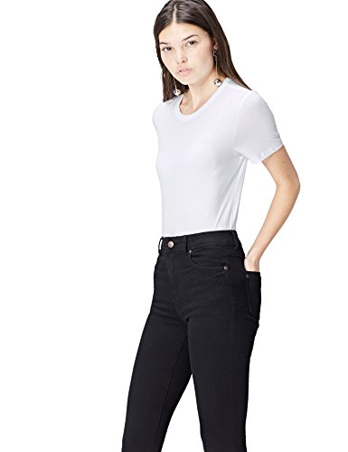 FIND Damen T-Shirt Crew Neck Weiß, 38 (Herstellergröße: Medium)