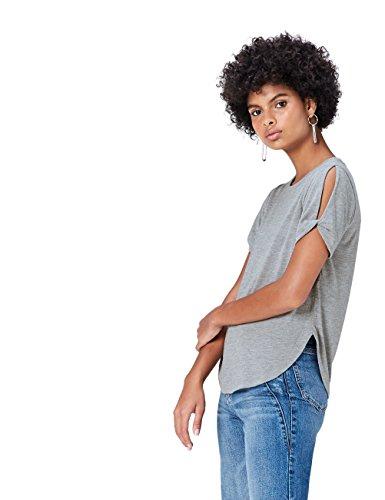 FIND Damen T-Shirt, Grau (Grey Marl), 40 (Herstellergröße: Large)