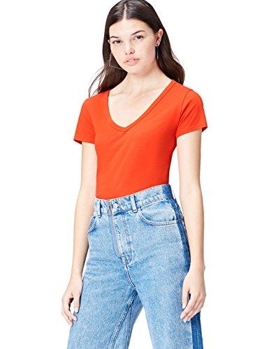 FIND T-Shirt Damen, Rot, 42 (Herstellergröße: X-Large)