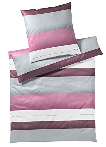 JOOP! Bettwäsche Kissenbezug Purity l Größe 40x80 l Farbe Berry l Reine Baumwolle