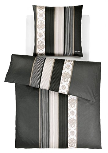 JOOP! Bettwäsche Ornament Stripes schwarz 4022-09 Mako Satin