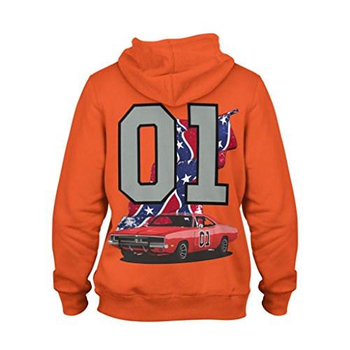Kapuzenpullover-Hoodie Hemi Orange The General Lee 01 Dukes of Hazzard Dodge Charger (XL, Hemi Orange)