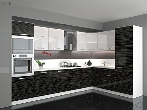 Küche L Form Hochglanz 3,40 m x 2,20 ohne E-Geräte,selbstschließfunktion