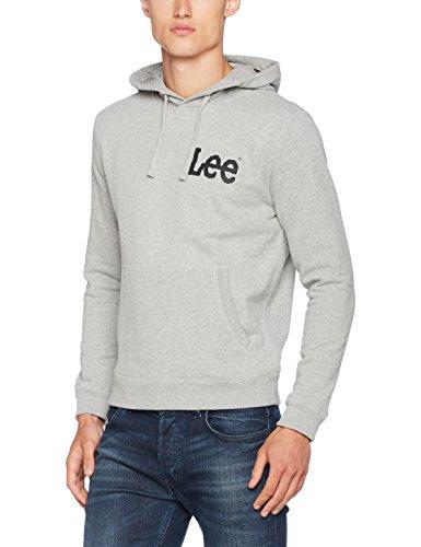 Lee Herren Kapuzenpullover Hoodie, Grau (Grey Mele UB37), Large