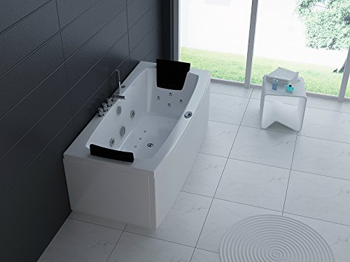 Luxus Whirlpool Badewanne 170x80 in Vollausstattung (Massage) - Sonderaktion