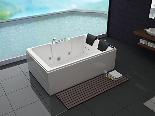Luxus Whirlpool Badewanne 180x120 in Vollausstattung (Massage) - Sonderaktion
