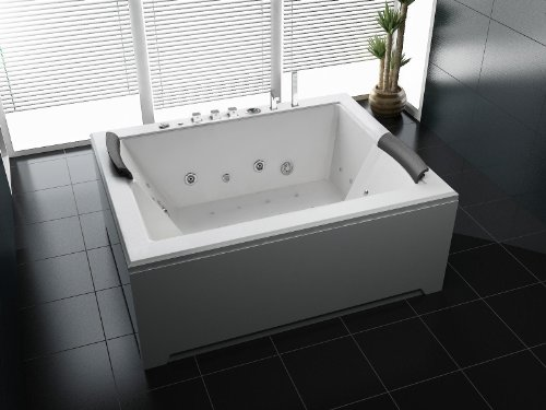 Luxus Whirlpool Badewanne 180x142 in Vollausstattung (Massage) - Sonderaktion