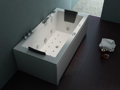 Luxus Whirlpool Badewanne 182x90 im Vollausstattung (Massage) - Sonderaktion
