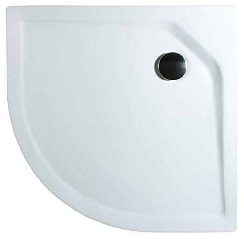 Schulte Duschbecken extra-flach 80x80 cm Sanitär-Acryl Radius 550 inkl Ablauf und Füßen Catania