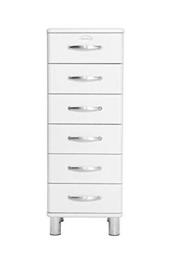 Tenzo 5106-005 Malibu Designer Kommode, MDF lackiert, 111 x 41 x 41 cm, weiß