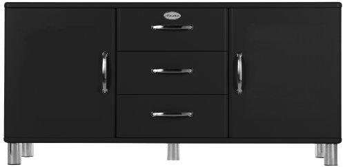 Tenzo 5176-033 Malibu - Designer Sideboard 73 x 150 x 41 cm, MDF lackiert, schwarz