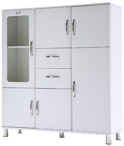 Tenzo 5238-005 Malibu - Designer Schrank 159 x 144 x 44 cm, MDF lackiert, weiß