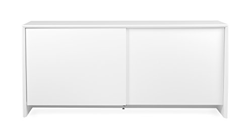 Tenzo 5932-001 Profil Designer Sideboard Holz, weiß, 47 x 173 x 70 cm