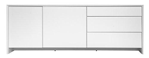 Tenzo 5935-001 Profil Designer Sideboard, 80 x 220 x 47 cm, weiß