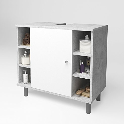 VICCO FYNN Waschtischunterschrank Badschrank Badezimmerschrank Waschbeckenunterschrank Unterstellschrank