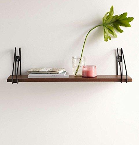 Wand Bücherregal Amerikanisches Schmiedeeisen-an der Wand befestigte Gestell-Massivholz-Regal-Wort-Trennzeichen-kreatives Küchen-Regal Regal (größe : 60*18*15cm)